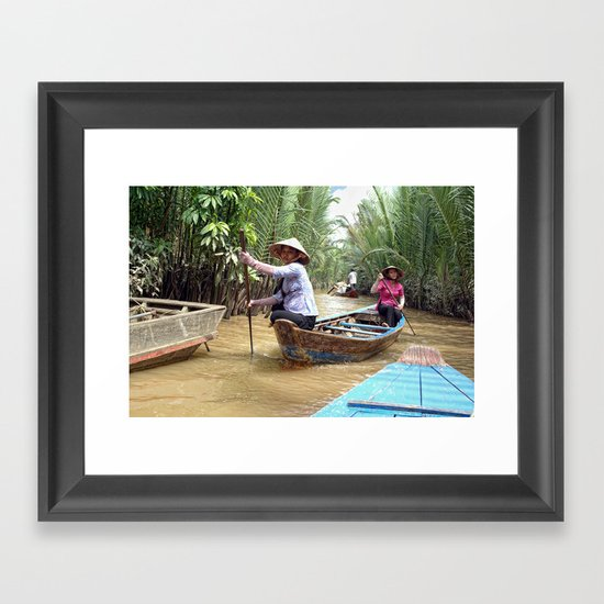 Mekong Delta Boat Ride Framed Art Print