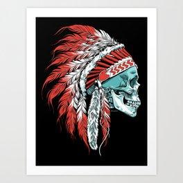 Skull Chief Art Print