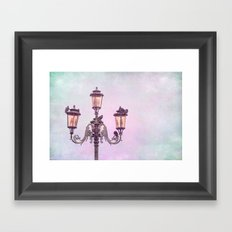 MAGICAL VENICE | Pink Lanterns Framed Art Print