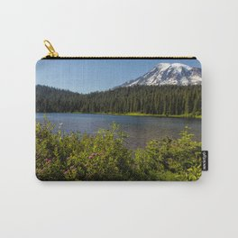 Wildlflower Color by Reflection Lake and Mt Rainier, No. 1 Carry-All Pouch