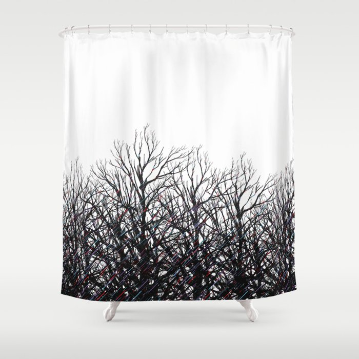 Tree Beams Shower Curtain