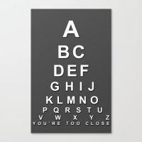 alphabet Canvas Prints featuring alphabet by jakeldesign