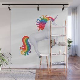 kismet (rainbow unicorn) Wall Mural
