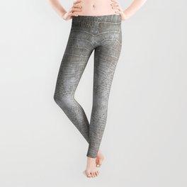 Silver Velvet Snake Pattern Leggings