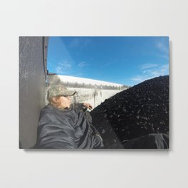 Riding Loaded Coal to Amarillo Metal Print