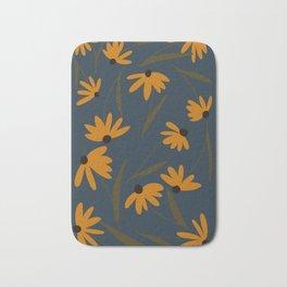 Autumn Floral Pattern Bath Mat