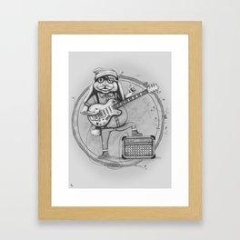 Joyful Noise -- Black and White Variant Framed Art Print