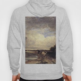 Roadside Shark River New Jersey 1877 By David Johnson   Reproduction   Romanticism Landscape Painter Hoody