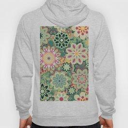 Retro kaleidoscope flower background pattern. Boho mandala ornate. Hoody