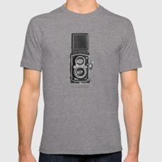 The King of Cameras - The Rolleiflex Mens Fitted Tee Tri-Grey LARGE