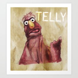 Telly Monster Art Print