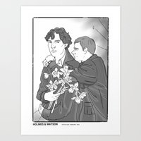 the smiths Art Prints featuring Sherlock as The Smiths by Stitchy