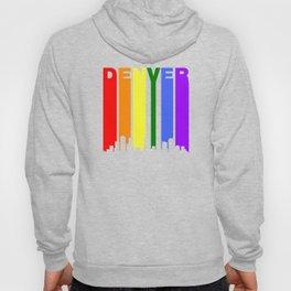 Denver Gay Pride Rainbow Cityscape Hoody