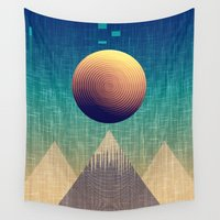 moonrise Wall Tapestries featuring Moonrise Abstract by GypsYonic