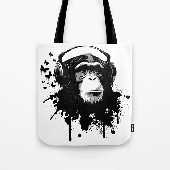 Monkey Business - White Tote Bag