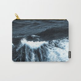Dark Sea Waves Carry-All Pouch