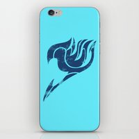 fairy tail iPhone & iPod Skins featuring Fairy Tail Segmented Logo Gray by JoshBeck