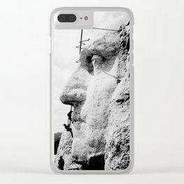Vintage Mt Rushmore Photo Clear iPhone Case