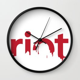 Seattle Riot   Skyline Wall Clock