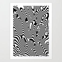 Trippy Background Art Print