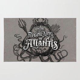 The Fucking King of Atlantis - b&w Rug
