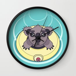 Are you OK? Swimming koala Wall Clock