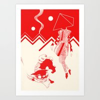 kenzo Art Prints featuring Planet KENZO by Nat Janin