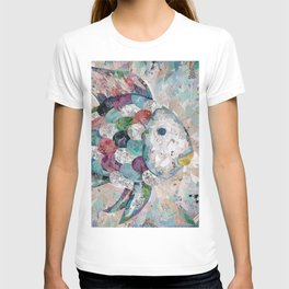 Rainbow Fish Collage T-shirt