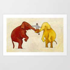 My Elephants Art Print