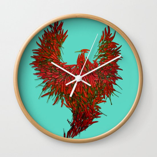 Hot Wings! Wall Clock