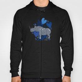 Sumatran Rhino – Blue & Grey Hoody