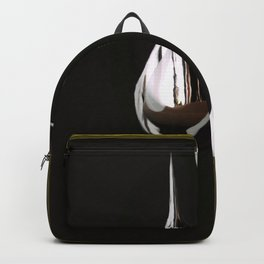 Silver Painting Drops On A Black Background in Golden Frames #decor #society6 Backpack