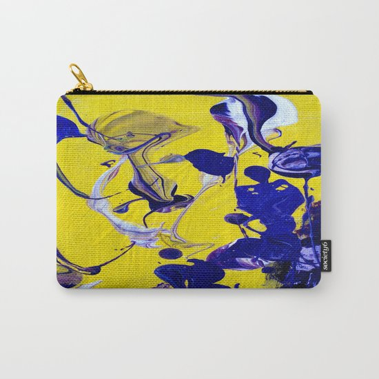 Ultra Violet Blue Yellow Abstract Paint Carry-All Pouch