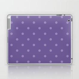 Ultra violet polka dot pattern Laptop & iPad Skin