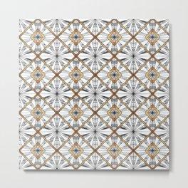 Geometric mosaic Metal Print