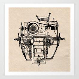 Clockhead Art Print