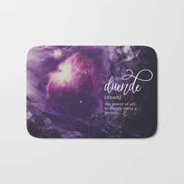 Duende Word Nerd Definition - Purple Universe Stars Bath Mat