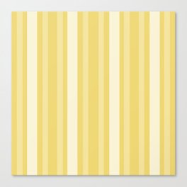 Buff Victorian Lady Stripe Canvas Print