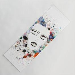 Sleepy Face in Spatter Pillow Yoga Mat