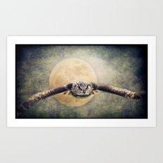 Angry Moon Art Print