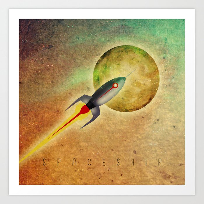 SPACESHIP Art Print