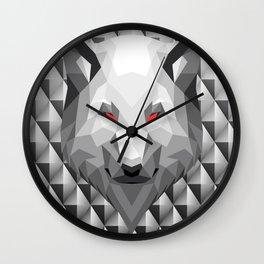 Wolf Head Trophy Wall Clock