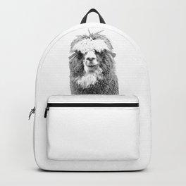 Black and White Alpaca Backpack