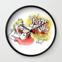 birthday Wall Clocks featuring birthday by Abinski