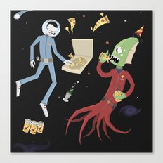 Space Party Canvas Print