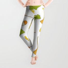 Ginkgo Tree Pattern Leggings