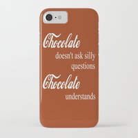 chocolate iPhone & iPod Cases featuring Chocolate by DuniStudioDesign