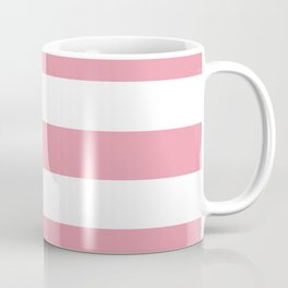 Mauvelous - solid color - white stripes pattern Coffee Mug
