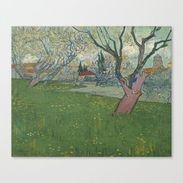Orchards in blossom, view of Arles by Vincent Van Gogh Canvas Print