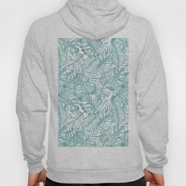 Tropical pink green watercolor hand painted floral Hoody
